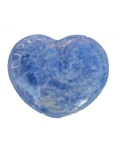 Herz aus blauem Calcit - Einzelstück!