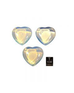 Herz aus Opalglas