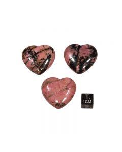 Herz aus Rhodonit